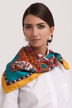 """Sirinbird silk scarf """"North Dvina"""""""