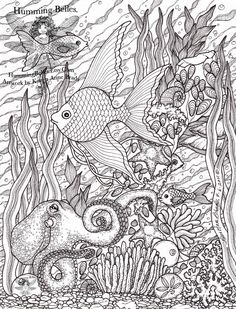 ".....""Humming Belles"".....: New! Undersea Illustrations and Coloring Pages"