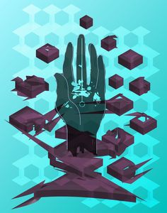 "ArtStation - Poster inspired by Porter Robinson's ""Worlds"" album, Max Wilhelmi"