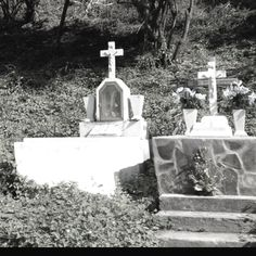 Roadside graves in San Pancho, Mexico.