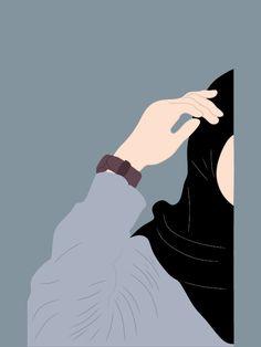 Cartoon Girl Drawing, Girl Cartoon, Cartoon Art, Cover Wattpad, Moslem, Hijab Drawing, Cute Cat Memes, Islamic Cartoon, Anime Muslim