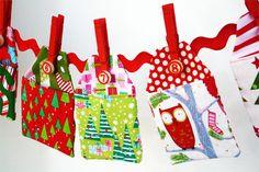 An Advent Calendar - sew fabric pockets.