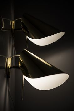 Mid century wall lamps in brass at Studio Schalling #midcentury #design