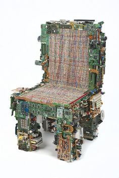 This chair looks a little more inviting and would fit perfectly in a dystopian or cyberpunk interior. I shall refer to it as the Johnny Mnemonic chair.