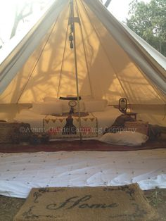 4m bell tent interior glamping