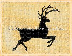 Christmas Reindeer Antlers Digital Graphic by QuiveringBeeStudios