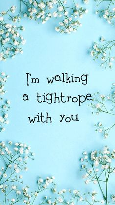 I'm walking a tightrope with you ooo, ooo, ooo, ooooo, with you! - The Greatest Showman (Lyrics - Tightrope by Michelle Williams) Song Quotes, Movie Quotes, Qoutes, Geeky Wallpaper, Iphone Wallpaper, Showman Movie, Elf Ranger, The Greatest Showman, Michelle Williams