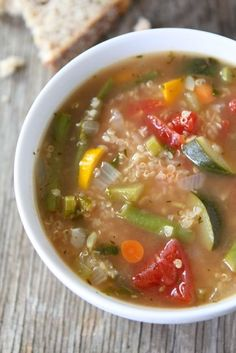 Vegetable Quinoa Soup Recipe on twopeasandtheirpod.com Love this easy and healthy soup! #soup #glutenfree