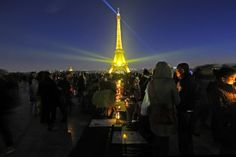 People gathered in Paris, France for a beautiful Nelson Mandela memorial.