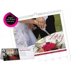 Personalised Wedding Calendar :: 12 stunning photos personalised with the groom and bride's names :: Fast UK Despatch. Personalised Gift Shop, Personalized Wedding, Bride And Groom Gifts, Bride Groom, Wedding Calendar, Thank You Gifts, Anniversary Gifts, Messages, Cards