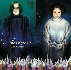 O Principe Mestiço e a Princesa de Aldeeran. Adeus Snape e Leia!