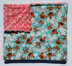 Check out this item in my Etsy shop https://www.etsy.com/listing/398896687/ready-to-ship-deer-baby-girl-blanket