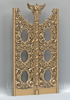 3D model of Holy door for CNC production