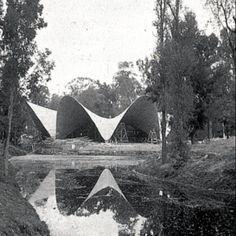 Para comer: Felix Candela, 1958 Restaurante Los Manantiales, Xochimilco México