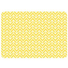 Yellow floor mat - Brookstone