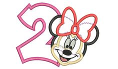 Birthday Embroidery Design Minnie Birthday