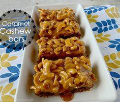 Caramel cashew bars