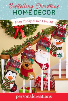 Make Santa feel right at home with our personalized holiday home decor. Shop today and get 15% off your order.