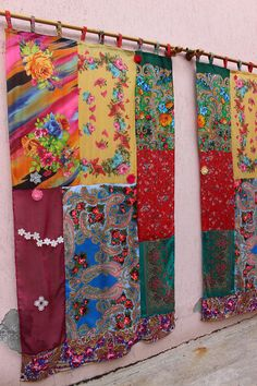 Scarves Curtain Hippie Panel Boho Gypsy Curtain Ready To Ship