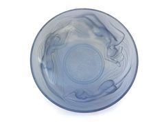 Art Deco Blue Glass Bowl with Mermaids. by LeBonheurDuJour on Etsy