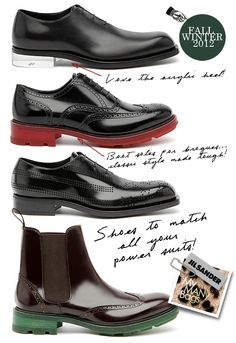 Jil Sander corporate type shoes given an interesting twist with details like boot soles and acrylic heel... Dressing for the office can be less boring:-)