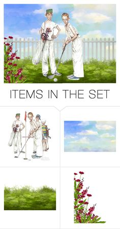 """""""Spring Means Golf"""" by sjlew ❤ liked on Polyvore featuring art"""