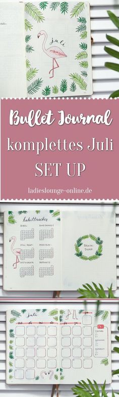 BULLET JOURNAL IDEEN DEUTSCH Inspiration für dein Bullet Journal. Komplettes SET UP für den Juli im Bullet Journal mit Flamingos und Palmen, Habit Tracker, monthly spread, brain dump... #bulletjournalideendeutsch #bulletjournalideen #bulletjournalfüranfän Bullet Journal Set Up, Bullet Journal Inspiration, Monthly Spread, Monthly Calender, Notebook Sketches, Brain Dump, Book Journal, Hand Lettering, Told You So