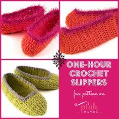 One-hour Crochet Slippers...free pattern