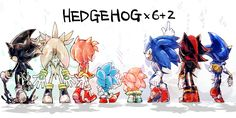 I think this is awesome. Did you know that out of all the hedgies, Modern Sonic is pointing to the classic Sonic and Amy (+2). Your welcome. :D