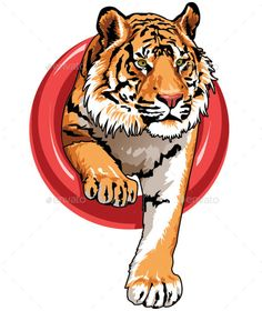 Buy Tiger by Stockpencil on GraphicRiver. Tiger Vector character for logo, print or web. Wwf Poster, Tiger Poster, Big Cat Tattoo, Tiger Vector, Lion Head Tattoos, Wallpaper Fofos, Black Panther Art, Tiger Illustration, Lion Painting