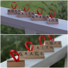 Scrabble Ornament | 36 Adorable DIY Ornaments You Can Make With The Kids