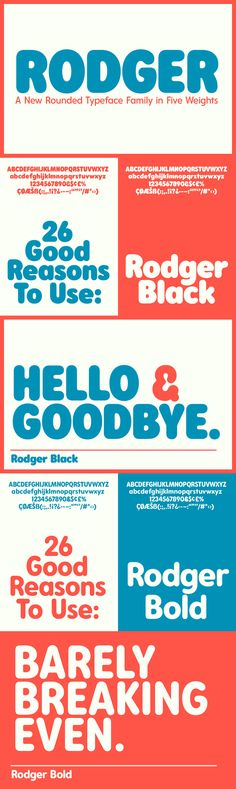 Rodger - Desktop Font & WebFont - YouWorkForThem