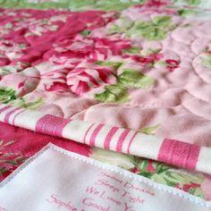 { l o v e  l e t t e r s }  there'll be no sister squabbles over which quilt belongs to who when there's a name on it  #custommade #customorder #heirloom #patchwork #singlebedquilt #quiltsofinstagram #handmade #girlsroomdecor #girlsroom #girlsroominspo #nurserydecor #nursery #nurserybedding #pinkandgreen #barefootroses #sleeppretty #sweetdreams #etsyau #shopsmall #buylocal #madeinmelbourne #mygeorgieboy