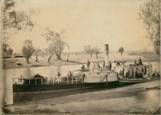 Murray River steamer Albury, 1870
