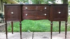 This furniture is thought to be from the 40's. It is in fair to good condition.