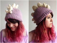 Top 5 dinosaur knitting patterns: Stegosaurus Hat by Louise Walker