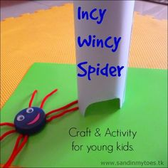 Incy Wincy Spider comes to life in this fun craft and activity based on the rhyme. Cute!