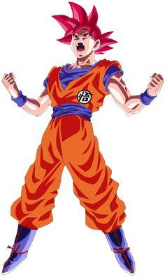 Goku Super Saiyan God Power Up! Palette 3 by EymSmiley