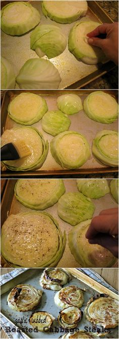 Oven-roasted cabbage steaks - I have not seen this before. I love cabbage so I will give it a try.