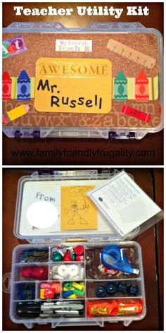 Teacher Christmas Gift: Useful Utility Box Filled w/ Goodies and Essentials!