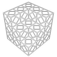 Free coloring page coloring-illusion-optic-cubes. The meeting of ...