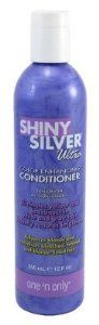 Shiny Silver Conditioner Ultra Color Enhancing 12.5 oz. # Onossc12 by Shiny Silver. $5.49. Shiny Silver Ultra Color Enhancing conditioner developed exclusively for natural gray, white, blonde or blonde color-treated hair.. Conditions and restores moisture to dry, damaged hair. Formulated with lavender, chamomile.. Restores healthy luster and brilliant shine to dull hair, while improving body, manageability, and softness.. Neutralizes brassy tones, imparting cooler, pastel sh...