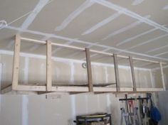 DIY Overhead Garage Shelves