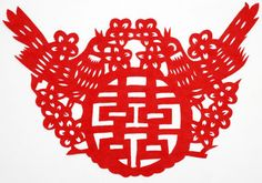 Chinese Wedding Paper Cut: Double Happiness Patterns
