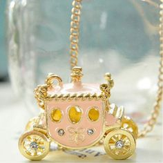 Corean Lovely and Gentle Style Pink Bus Pattern Decorated Necklace in Necklaces | DressLily.com