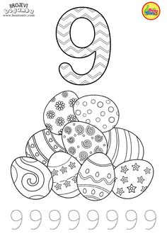 Free Preschool printables - Easter Number tracing Worksheets and Coloring Pages for Kids (Learning numbers, counting - Brojevi s motivima Uskrsa - Bojanke za djecu, radni listovi © BonTon TV Numbers For Kids, Numbers Preschool, Learning Numbers, Free Preschool, Preschool Printables, Kindergarten Worksheets, Mickey Mouse Coloring Pages, Disney Coloring Pages, Coloring Pages For Kids