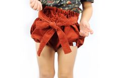 * Bloomers are made from a lightweight corduroy fabric and are perfect for layering during Fall and Winter * Bloomers have an attached belt that can be adjusted