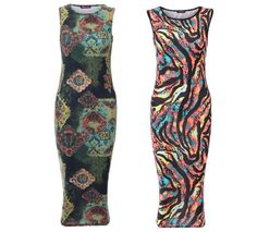 Summer Printed Midi Dresses These dresses are the latest addition to our large range of Midi Dresses. Gorgeous prints, in perfect summer colors.  The Sexy Midi Length Can be worn from day to night,  perfect for Parties and nights out. £15.99
