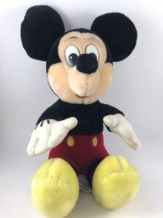 "Disneyland Disney World Anniversary 16"" Plush Mickey Mouse Toy Stuffed Animal    eBay"