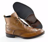 R - Men's TO BOOT NEW YORK 'Brentwood' Leather Wingtip Boots Size 11.5 - D Brown